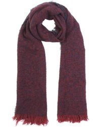 Zanone - Burgundy And Blue Wool Scarf - Lyst