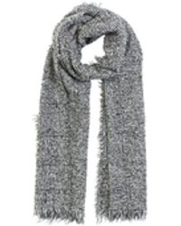 Zanone - Black And White Wool Scarf - Lyst