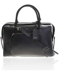 DKNY - Black Leather Satchel Bag - Lyst