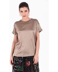 Brunello Cucinelli - Embellished Silk Blouse - Lyst
