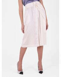 Stella McCartney - Ruched Silk Skirt - Lyst