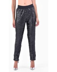 Amen - Sequinned Cotton Trousers - Lyst