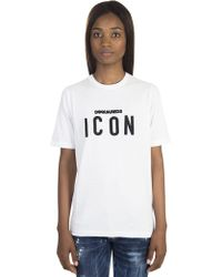 DSquared² - Cotton Renny T-shirt With Embroidered Logo - Lyst