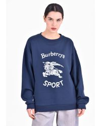 Burberry - Printed Cotton Blend Sweatshirt - Lyst