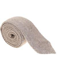 Roda - Taupe Textured Tie - Lyst