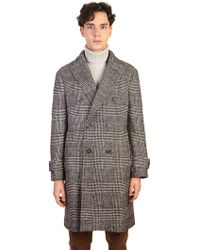Dell'Oglio - Blend Wool And Cotton Coat - Lyst