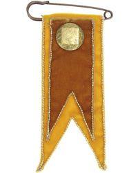 Rosantica - Velvet Embroidered Military Brooch - Lyst