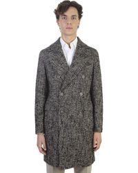 Tagliatore - Wool Microtextured 3/4 Coat - Lyst