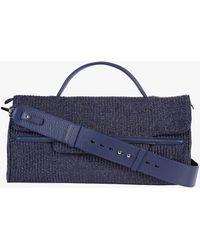 Zanellato - Nina M Fiascaia Raffia And Leather Bag - Lyst
