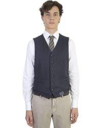 Lardini   Cotton And Wool Gilet   Lyst