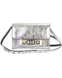 Proenza Schouler - Silver Leather Ps11 Crossbody Bag - Lyst