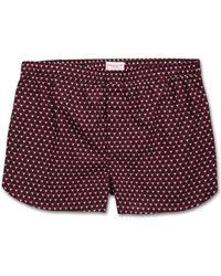 Derek Rose - Modern Fit Boxer Shorts Ledbury 26 Cotton Batiste Burgundy - Lyst