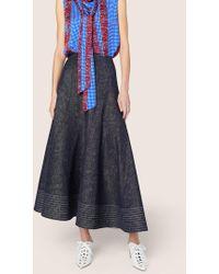 Derek Lam - Full Midi Skirt With Diagonal Seams - Lyst