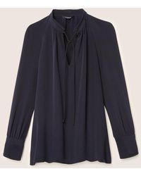 Derek Lam - Long Sleeve Blouse With Front Ties - Lyst