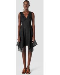 903cf9ab5314a Derek Lam - 10 Crosby Sleeveless V-neck Pieced Lace Dress - Lyst