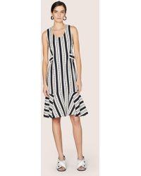 Derek Lam - Sleeveless Flounce Hem Dress With Tab Waist Detail - Lyst