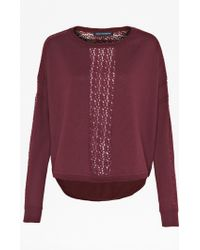 French connection Ivy Lace Slouchy Jumper - Lyst