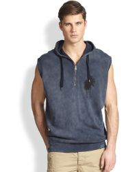 Diesel Sleeveless Hooded Sweatshirt - Lyst