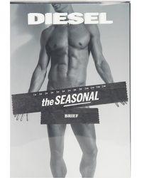 Diesel Black Printed Briefs - Lyst