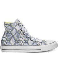 Converse Womens Chuck Taylor Hi Animal Casual Sneakers From Finish Line - Lyst
