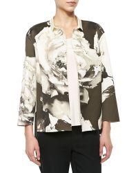 Lafayette 148 New York Anne Floral-Print Topper Jacket - Lyst