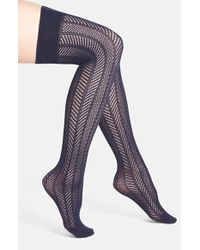Vince Camuto - Openwork Knit Thigh High Socks - Lyst