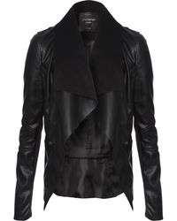 Jane Norman Pu Waterfall Jacket - Lyst