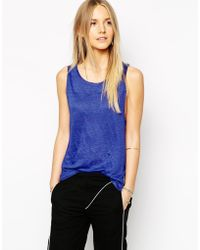 By Zoé Tank Top With Drop Armholes - Lyst