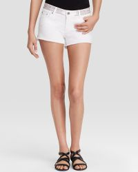 Maje White Denim Shorts - Bloomingdale'S Exclusive - Lyst
