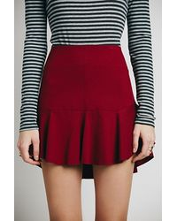 Free People Short N Sweet Mini Skirt - Lyst