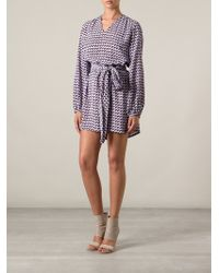 Marc Jacobs Long Printed Pussy Bow Blouse - Lyst
