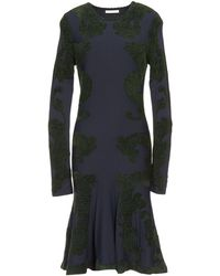 Zac Posen Green Kneelength Dress - Lyst
