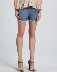 Elizabeth And James Jack Sheerhem Chambray Shorts - Lyst
