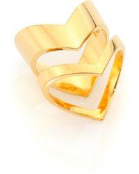 Tomtom - Chevron Prix Stacked Ring Set - Lyst