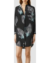 AllSaints Helle Piuma Dress - Lyst