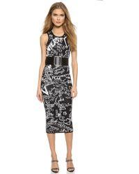 McQ by Alexander McQueen Jacquard Tank Dress - Darkest Black - Lyst
