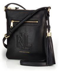 Lauren by Ralph Lauren Leather Crossbody Bag - Lyst
