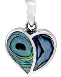 Aeravida | One Love Heart Abalone Shell Inlay .925 Sterling Silver Pendant | Lyst
