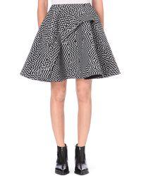 Kenzo Broken Floor Wool-blend Skirt - Lyst