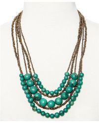 Greenola Style - Green Multistrand Acai Necklace - Lyst