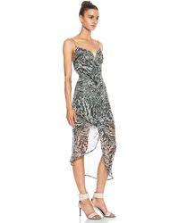 Zimmermann Plunge Drape Silk Dress - Lyst