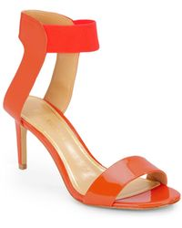 Enzo Angiolini Isadora Patent Leather Sandals - Lyst