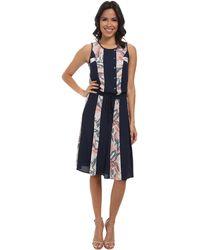BCBGMAXAZRIA Courtnee Print Striped Dress - Lyst