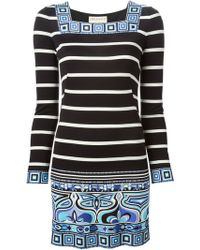 Emilio Pucci Patterned Mini Dress - Lyst