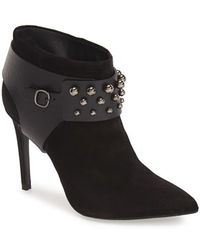 Pedro Garcia - 'andy' Studded Pointy Toe Bootie - Lyst