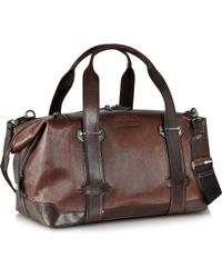 The Bridge Pininfarina Legacy Marrone Leather Travel Bag - Lyst