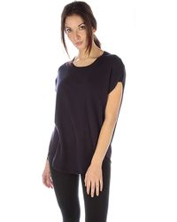 Acrobat Relaxed Fit Short Sleeve Top In Navy - Lyst