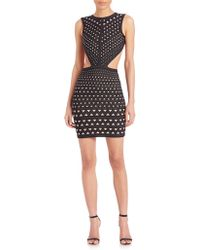 Hervé Léger | Printed Cutout Dress | Lyst