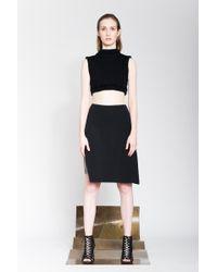 Serafin Andrzejak Side Embroidered Skirt black - Lyst