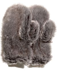 H&M - Fake Fur Mittens - Lyst